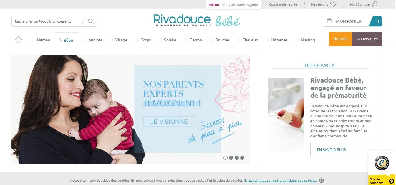 rivadouce bebe site officiel